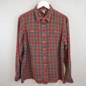 Duluth Trading Co. Plaid Button Down Shirt